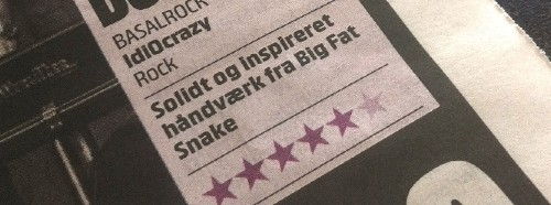 Fem stjerner til Big Fat Snake – tilbage til rødderne